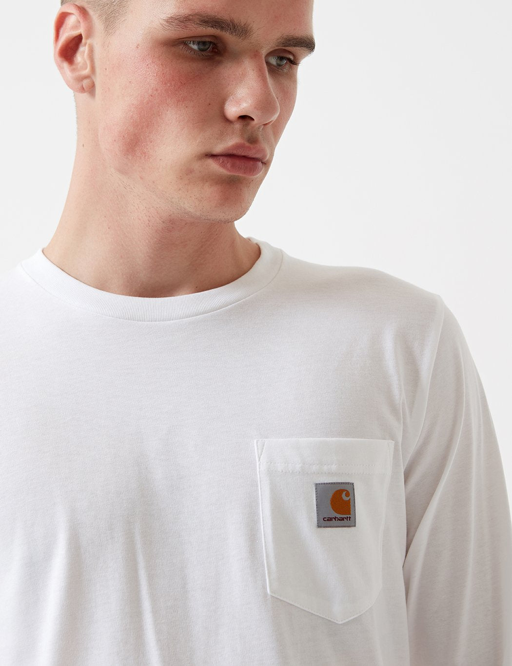Carhartt Pocket Long Sleeve T-Shirt - White