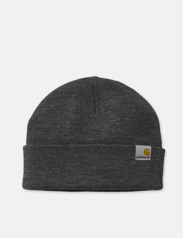 Carhartt-WIP Stratus Low Strickmütze - Dark Grey Heather