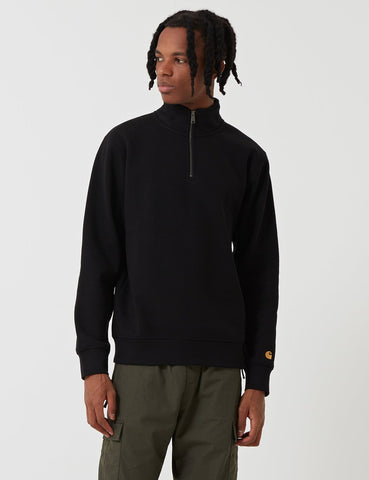 Carhartt-WIP Chase Quarter-Zip High Neck Sweatshirt - Schwarz