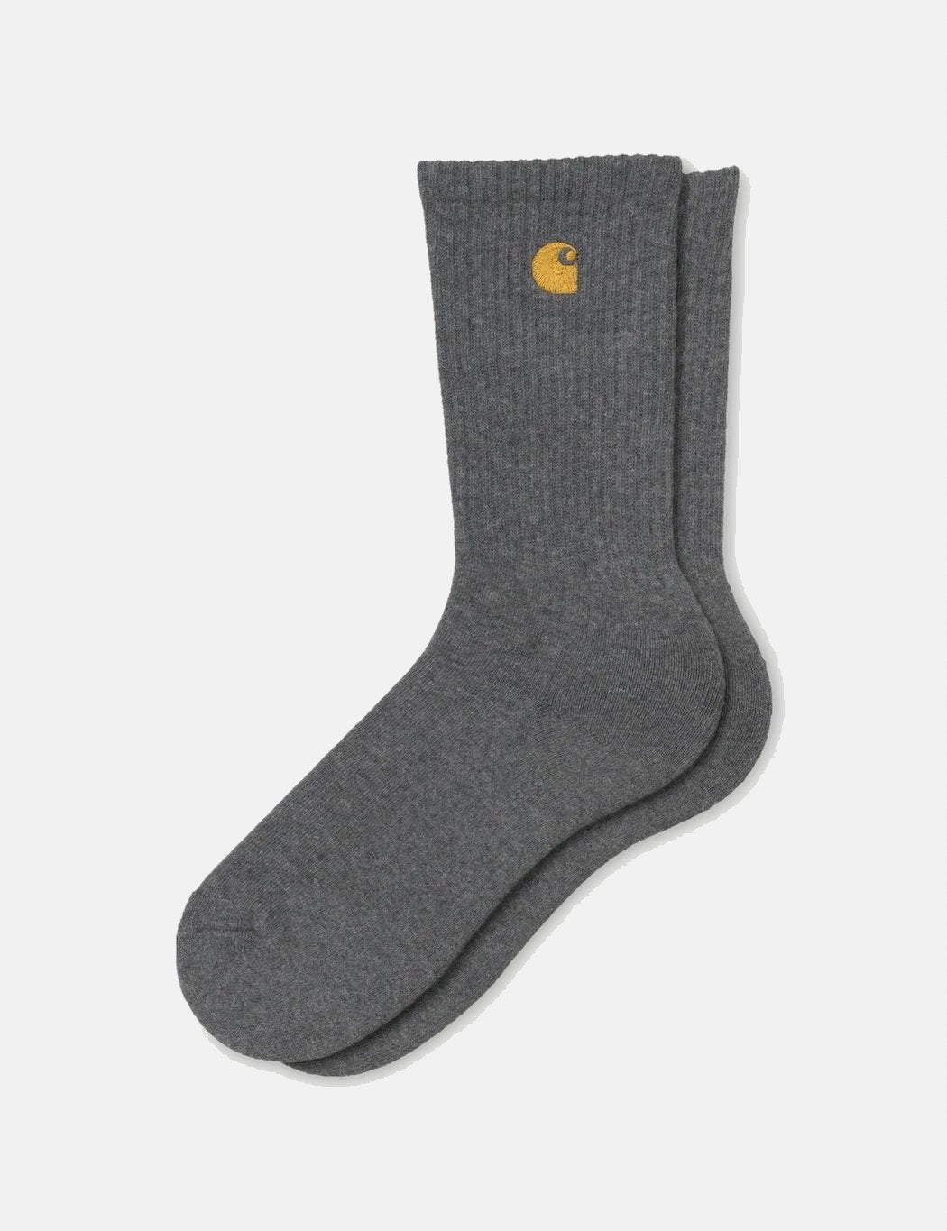 Carhartt-WIP Chase Socken - Dunkelgrau Heather / Gold