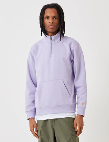 Carhartt-WIP Chase Quarter-Zip High Neck Sweatshirt - Soft Lavendel