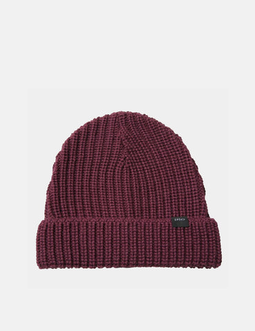 Edwin Purl Beanie Hat - Dark Purple