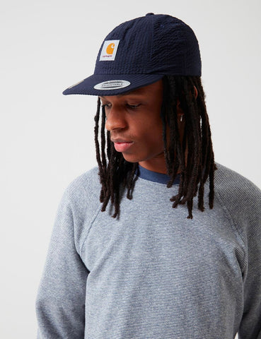 Carhartt-WIP South Cap (Seersucker) - Dark Navy Blau