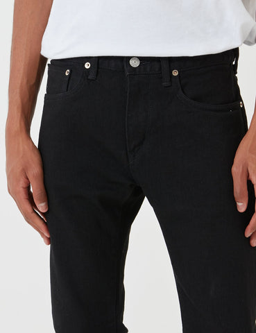 Edwin 'Made in Japan' Kaihara Selvage 12,5 Unzen Jeans (Slim Tapered) - Schwarz Rinsed