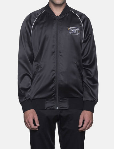 Huf Cabbie Satin Jacket - Black