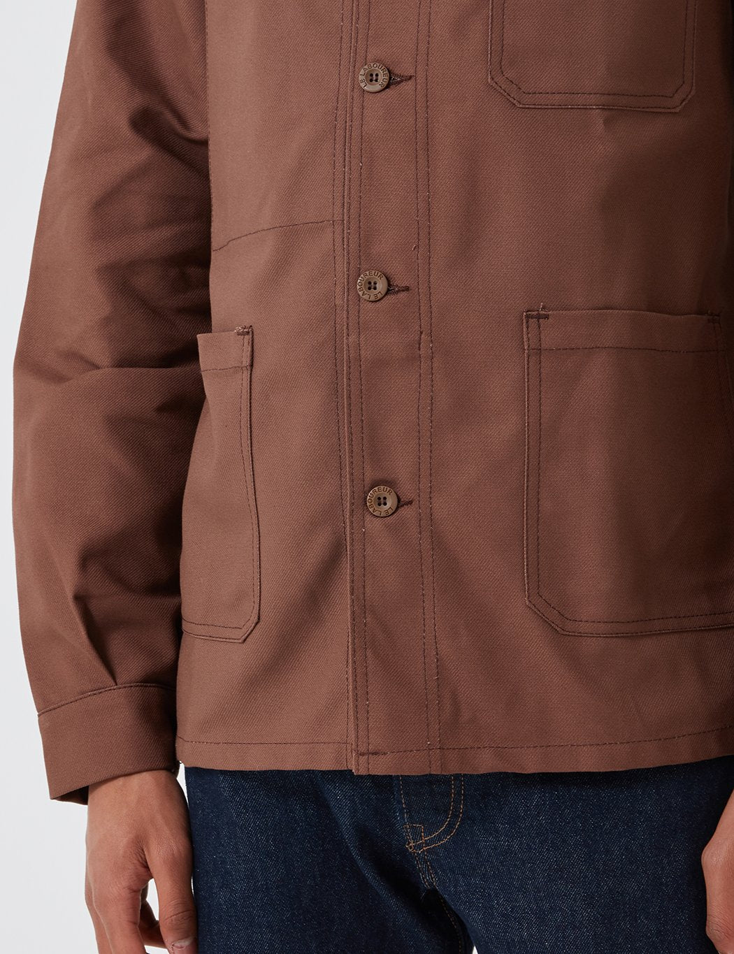 Le Laboureur Cotton Arbeitsjacke - Brown
