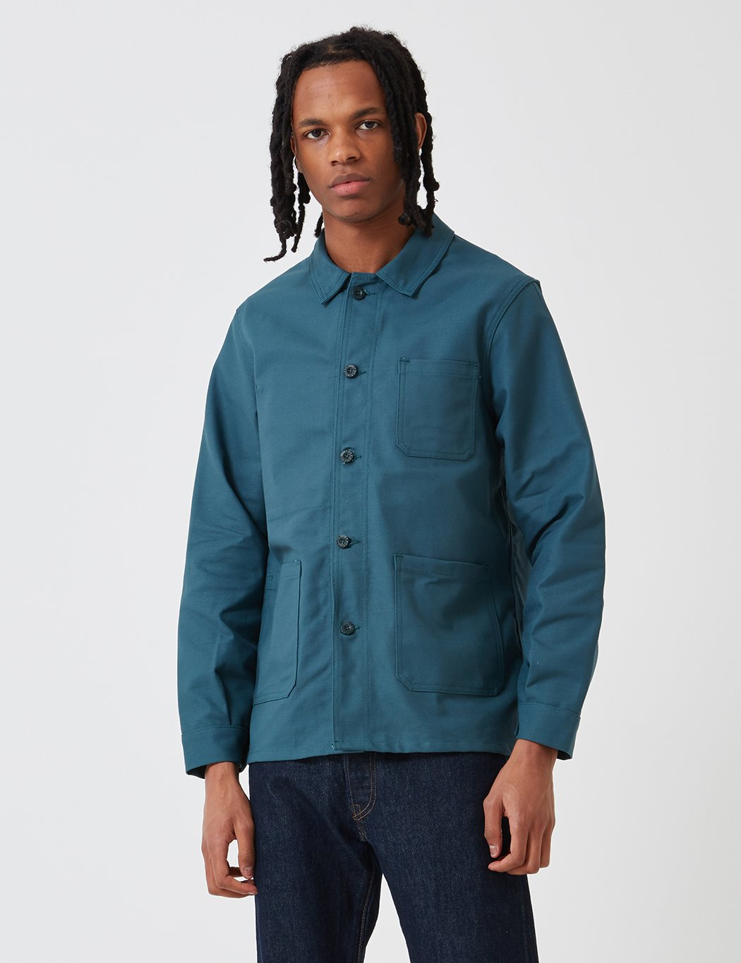 Le Laboureur Cotton Drill Arbeitsjacke - Forest Green