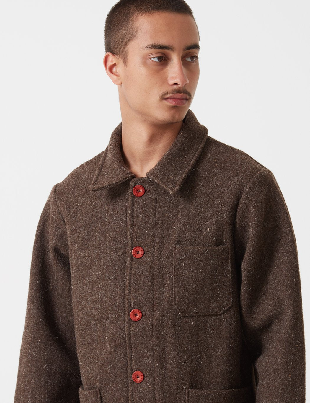 Le Laboureur Wolle Arbeitsjacke - Brown
