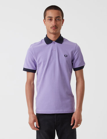 Kontrast Fred Perry Rib Pique Shirt - Weiche Flieder