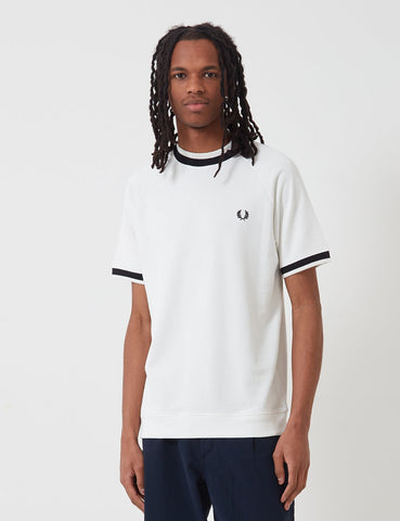 Fred Perry Raglan Sweat Top T-Shirt - Schneewittchen