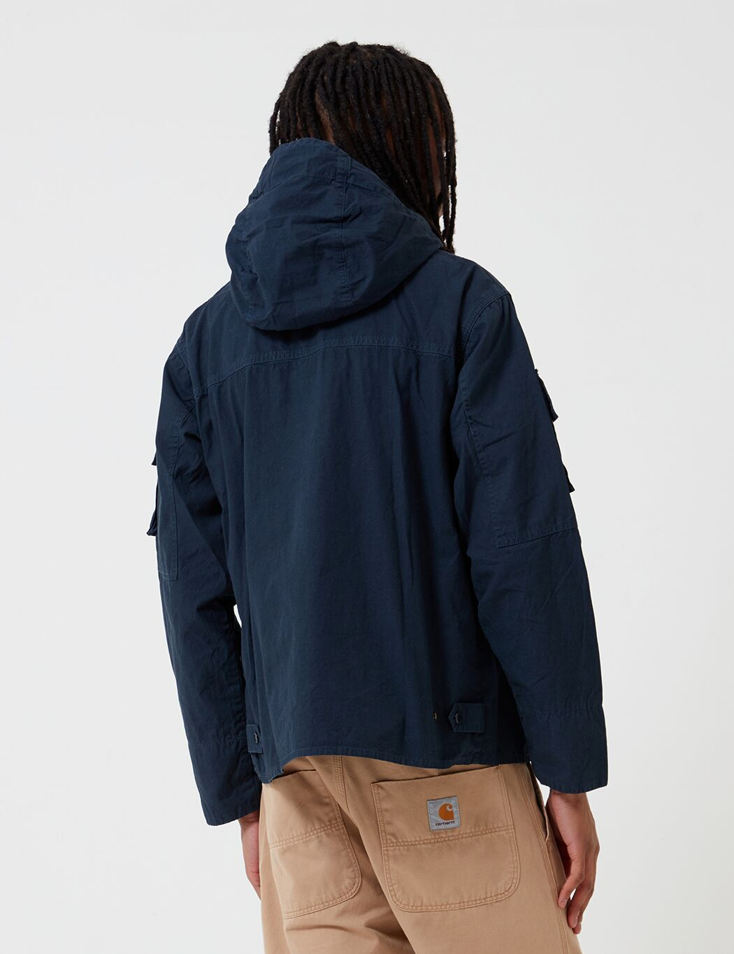Barbour x Engineered Garments Cowen Casual-Jacke aus gewaschenem - Marine-Blau