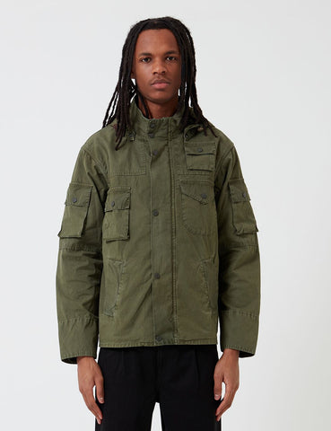 Barbour x Engineered Garments Cowen Casual-Jacke aus gewaschenem - Olive