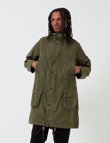 Barbour x Engineered Garments Gewaschene Highland Parka - Olive