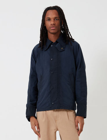 Barbour x Engineered Garments Graham Gewaschene Casual-Jacke - Marine-Blau