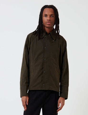 Barbour x Engineered Garments Gewaschene Graham Casual-Jacke - Olive
