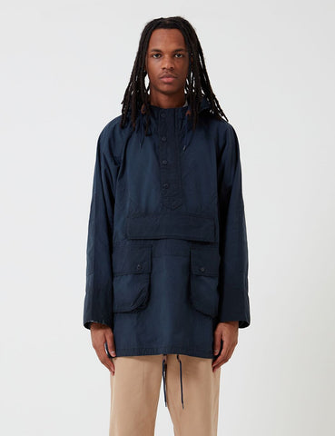 Barbour x Engineered Garments Warby Gewaschene Casual-Jacke - Marine-Blau