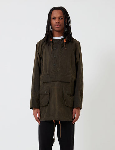 Barbour x Engineered Garments Warby Gewaschene Casual-Jacke - Olive