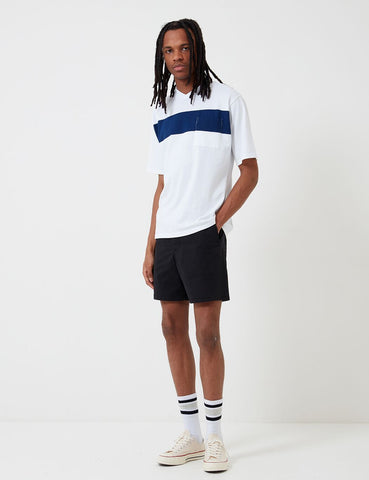 Barbour Cove Twill Short (White Label) - Marine-Blau