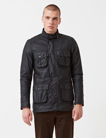 Barbour Corbridge Wax Jacket - Black