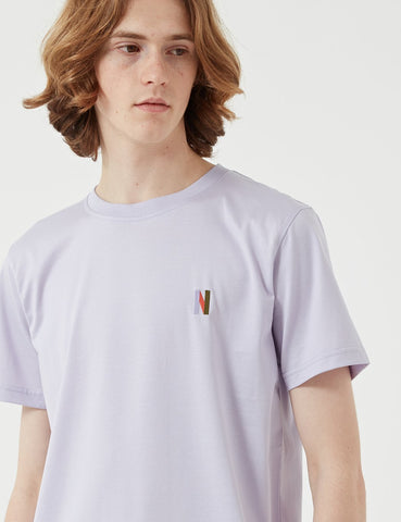 Norse Projects Niels Multi N-Logo-T-Shirt - Heather Lila