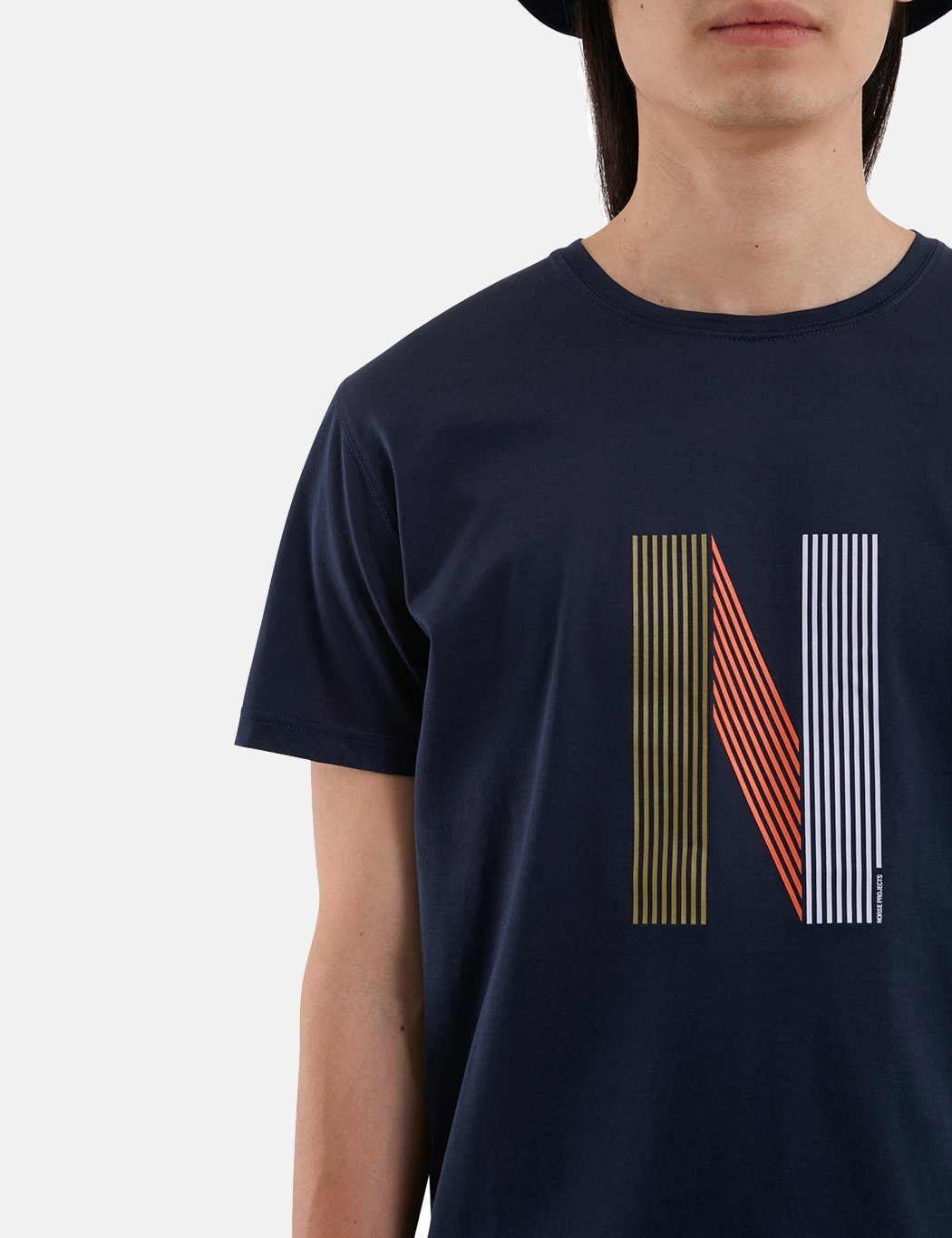 Norse Projects Niels Layer-Logo T-Shirt - Dark Navy