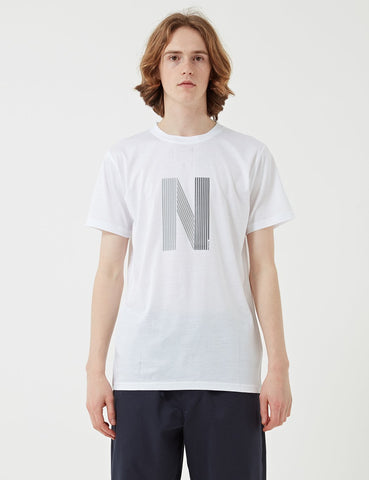 Norse Projects Niels Layer-Logo T-Shirt - Weiß