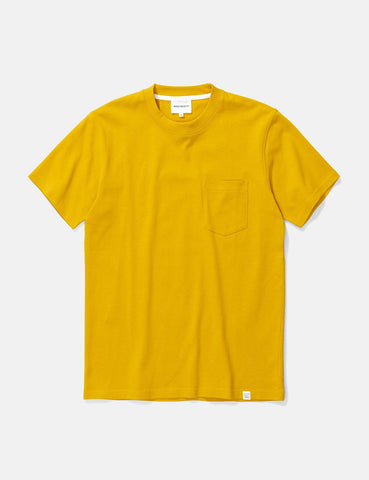 Norse Projects Johannes Taschen-T-Shirt - Montpellier Gelb