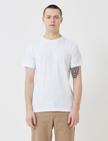 Norse Projects Niels Standard-Logo Patch T-Shirt - Weiß