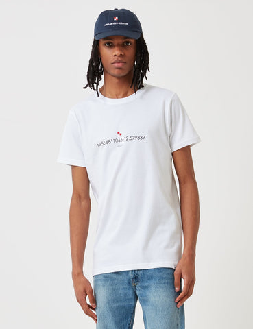 Norse Projects Niels Koordinaten-Logo-T-Shirt - Weiß