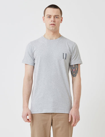 Norse Projects Niels Multi-Logo-T-Shirt - Hellgrau Melange