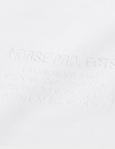 Norse Projects Niels-Center-Logo-T-Shirt - Weiß