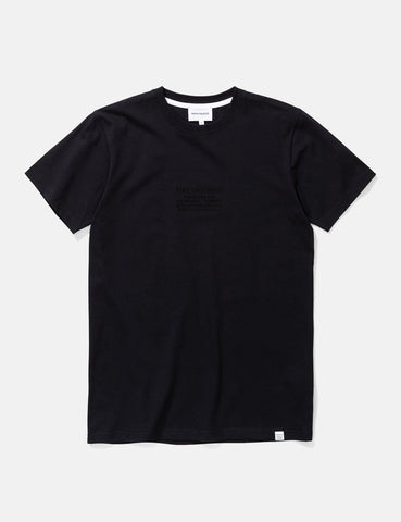 Norse Projects Niels-Logo-T-Shirt - Schwarz