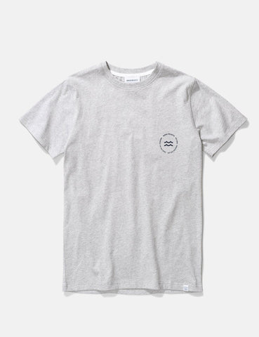Norse Projects Niels Wave-Emblem-T-Shirt - Hellgrau Melange