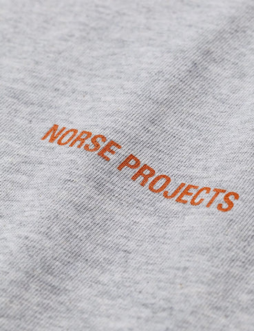 Norse Projects Logo T-Shirt - Hellgrau Melange