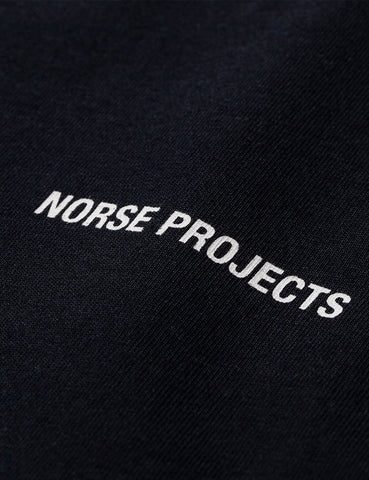 Norse Projects Logo T-Shirt - Schwarz
