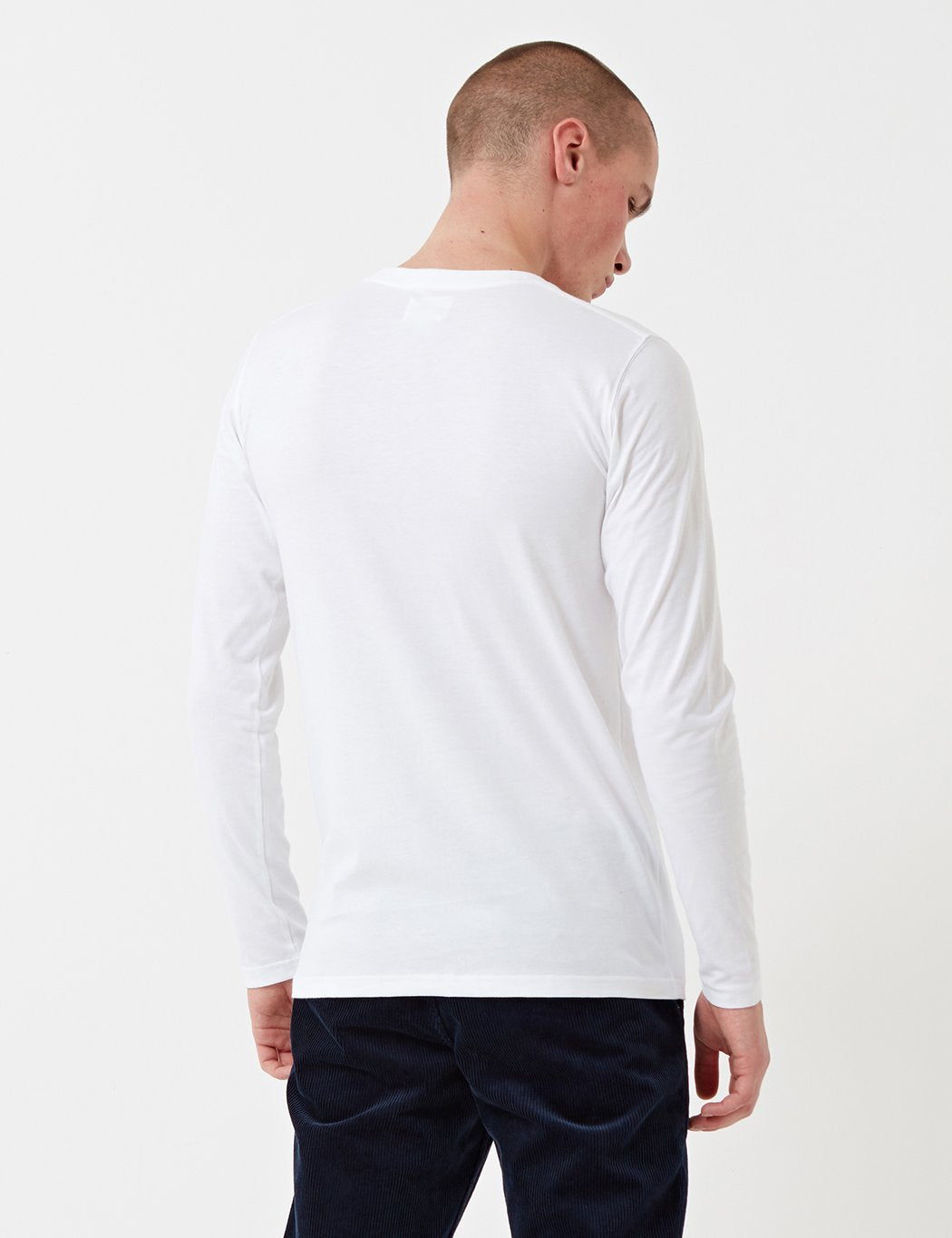 Norse Projects Niels Basic Langarm-T-Shirt - Weiß