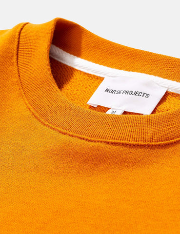 Norse Projects Vagn Klassisches Sweatshirt - Kadmiumorange