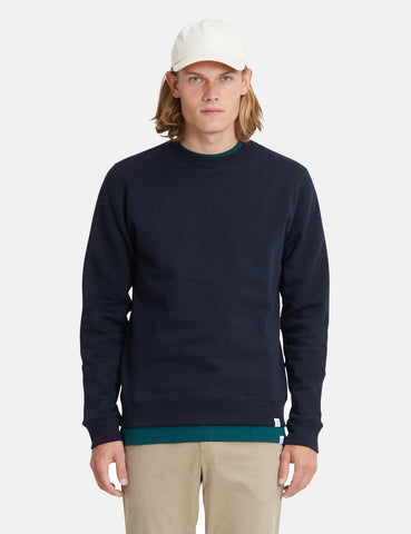 Norse Projects Vagn Klassisches Sweatshirt - Dunkelmarineblau