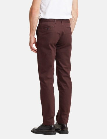 Norse Projects Aros Schweres Chino (Regular) - Aubergine Braun