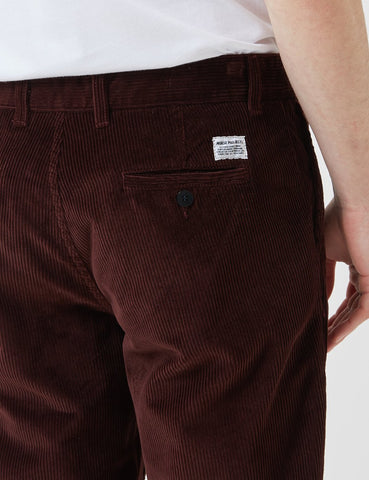 Norse Projects Aros Corduroy Chino - Burnt Sienna Brown