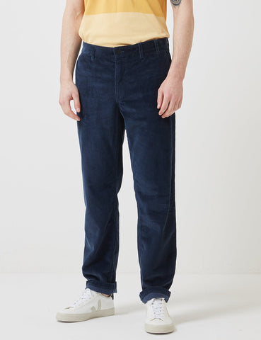 Norse Projects Aros Corduroy Chino - Ensign Blau