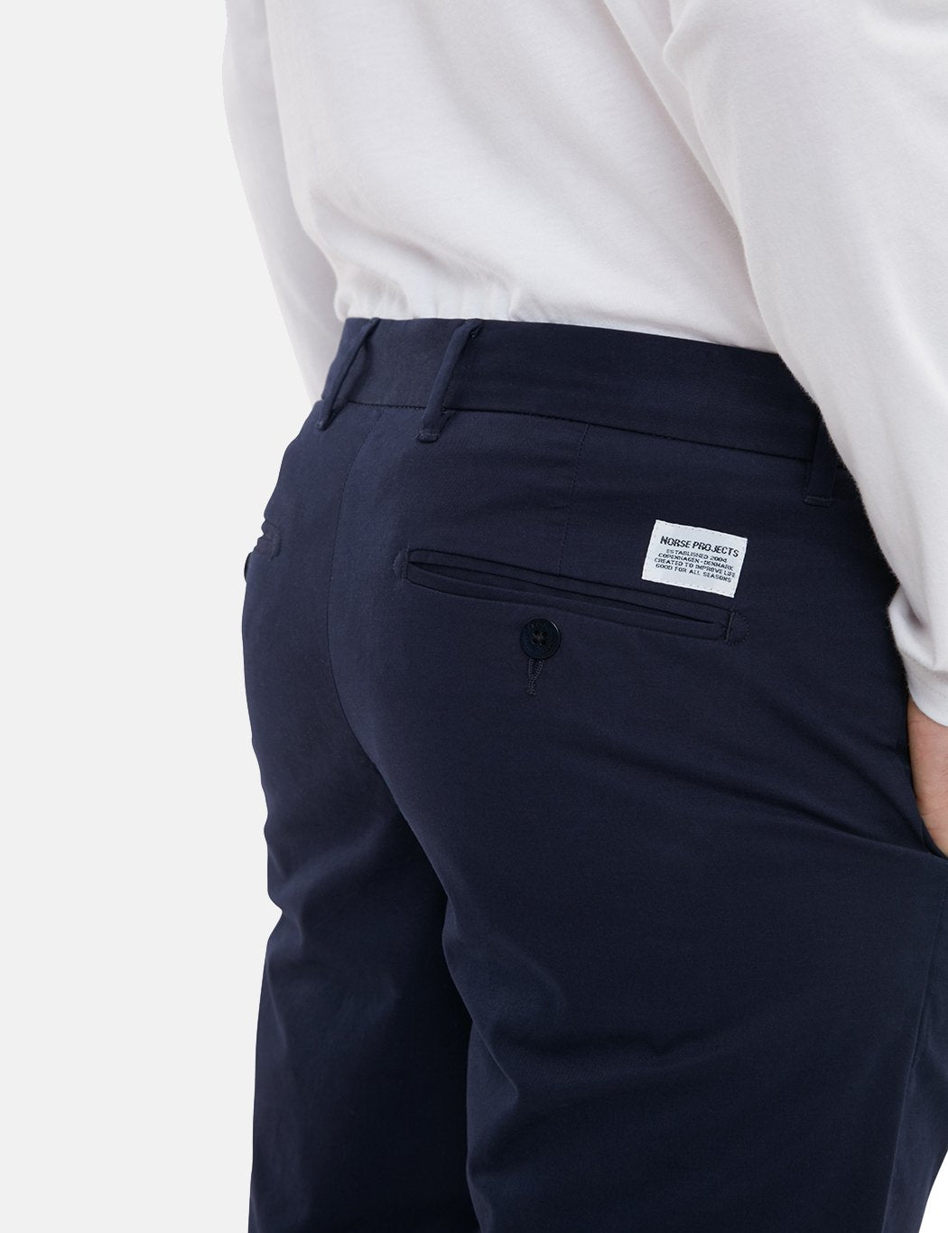 Norse Projects Aros Light Stretch Chino (Slim) - Dark Navy