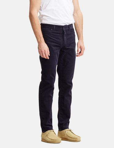 Norse Projects Edvard Licht Corduroy Chino - Dark Navy