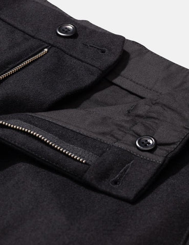 Norse Projects Aros Chino (Wolle) - Schwarz