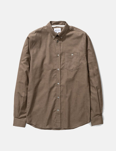 Norse Projects Anton Brushed Flanellhemd - Buche Grün