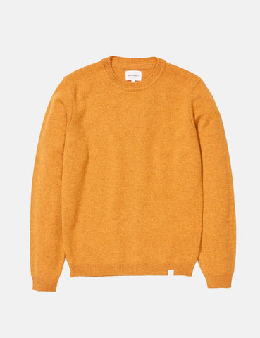 Norse Projects Sigfred Knit Sweatshirt (Lambswool) - Montpellier Gelb