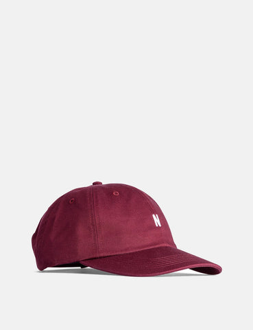 Norse Projects Twill Sport Cap - Mulberry Red