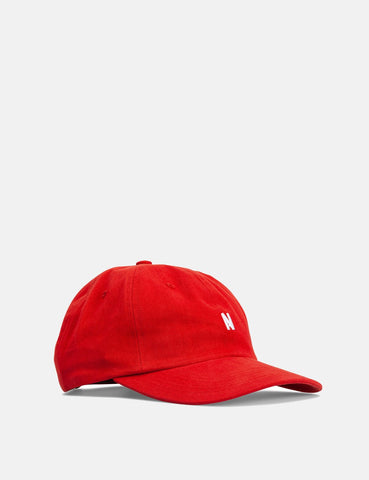 Norse Projects Twill Sport Cap - Askja Red