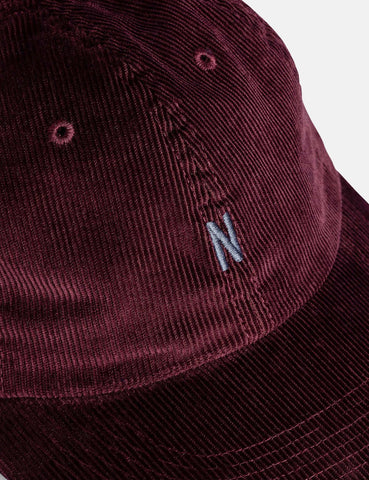 Norse Projects Thin Cord Sport Cap - Mulberry Red