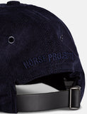 Norse Projects Baby-Corduroy Sport Cap - Dark Navy Blau